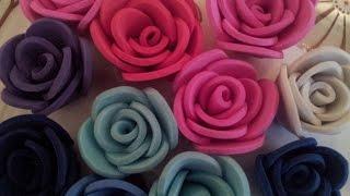 ✿ ❀Маленькие  розы из фоамирана самый легкий способ✿ ❀