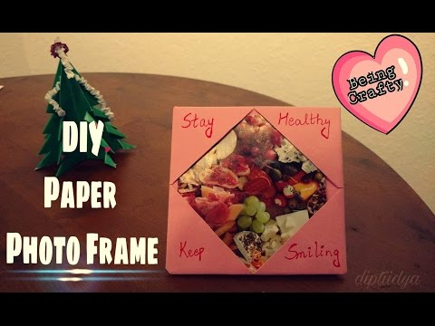 QuickCrafts - How to make easy and quick Photo Frame - DIY using only A4 paper