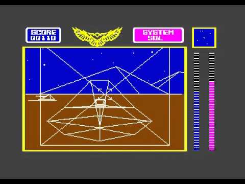 STELLAR 7 - DYNAMIX - US GOLD - GAMEPLAY VIDEO C64