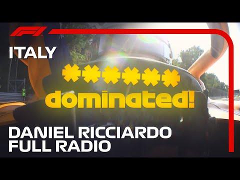Daniel Ricciardo Cooldown Lap Radio | 2021 Italian Grand Prix