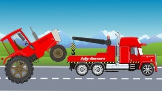 Tractor and Tow Truck | Street Vehicles with wrong head | What Cabin? Video for kids