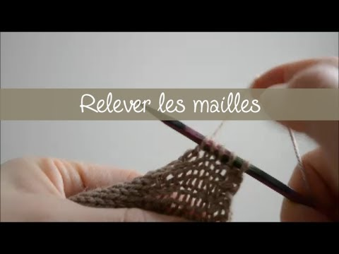 tuto tricot relever des mailles