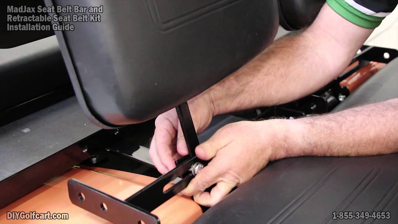 Club Car DS Seat Belt Bar for Rear Seat | How to Install cket on Golf Ezgo Golf Cart Seat Belt Installation on golf cart rear seat belts, western golf cart seat belts, automotive seat belts, ezgo lx 800, utv seat belts, golf cart retractable seat belts, yamaha golf cart belts, universal seat belts, jeep seat belts, golf cart safety belts, car seat belts, st480 golf cart belts, ezgo rxv seat belts, star golf cart seat belts, go cart seat belts,