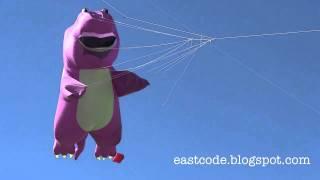 Barney Dinosaur Kite In Cha Am International Kite Festival Thailand