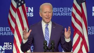 WATCH: Former Vice President Biden speaks as presidential vote count continues