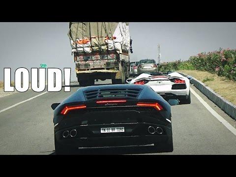 INDIA Highway - Chasing LOUD Lamborghini Aventador & Huracan
