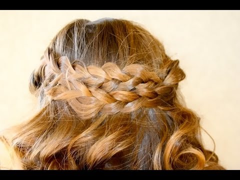 pancake braids with sock curls