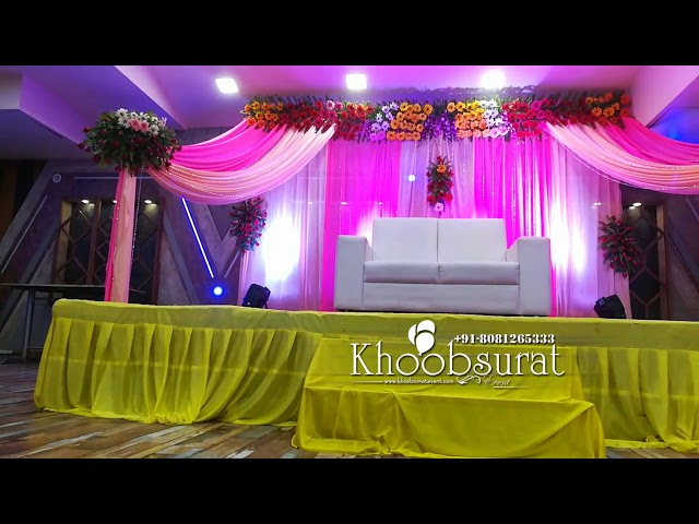engagement Tilak baricha satge decor #khoobsurat events
