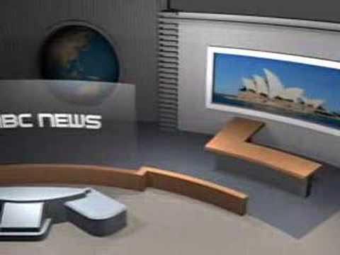 3D Interior NBC News Studio