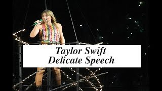 Taylor Swift -Delicate Gillette speech (July 26 2018) Video