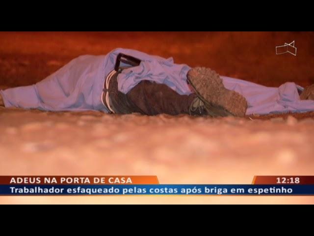 DF ALERTA -  Trabalhador esfaqueado pelas costas após briga em espetinho