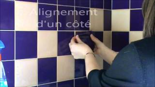 Méthode 1 - Pose stickers carrelage avec AdR Carreaux