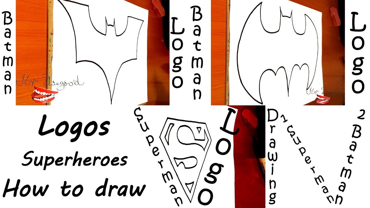 how to draw superheroes logos for beginners kids step by step easy