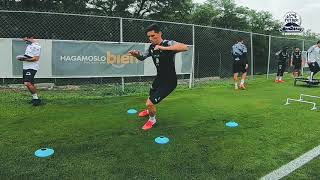 Las imágenes del entrenamiento del día de hoy.