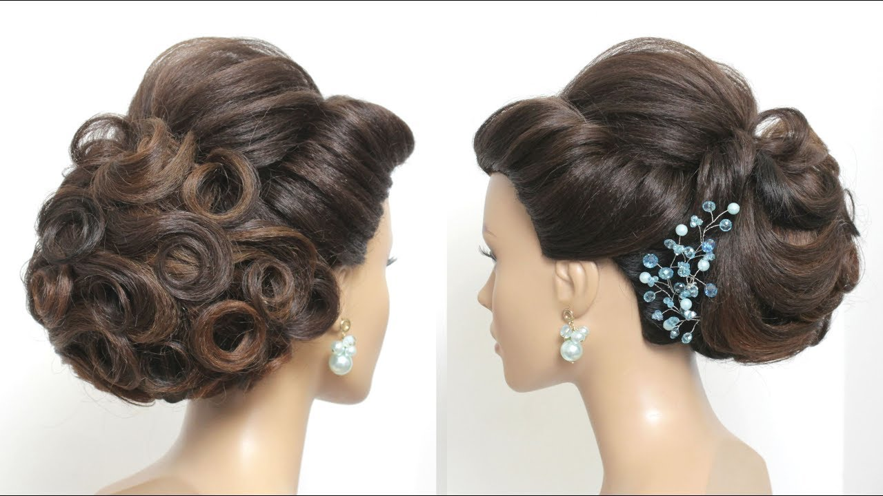 Beautiful Bridal Hairstyle For Long Hair: Beautiful Bridal Hairstyle For Long Hair Tutorial. Wedding