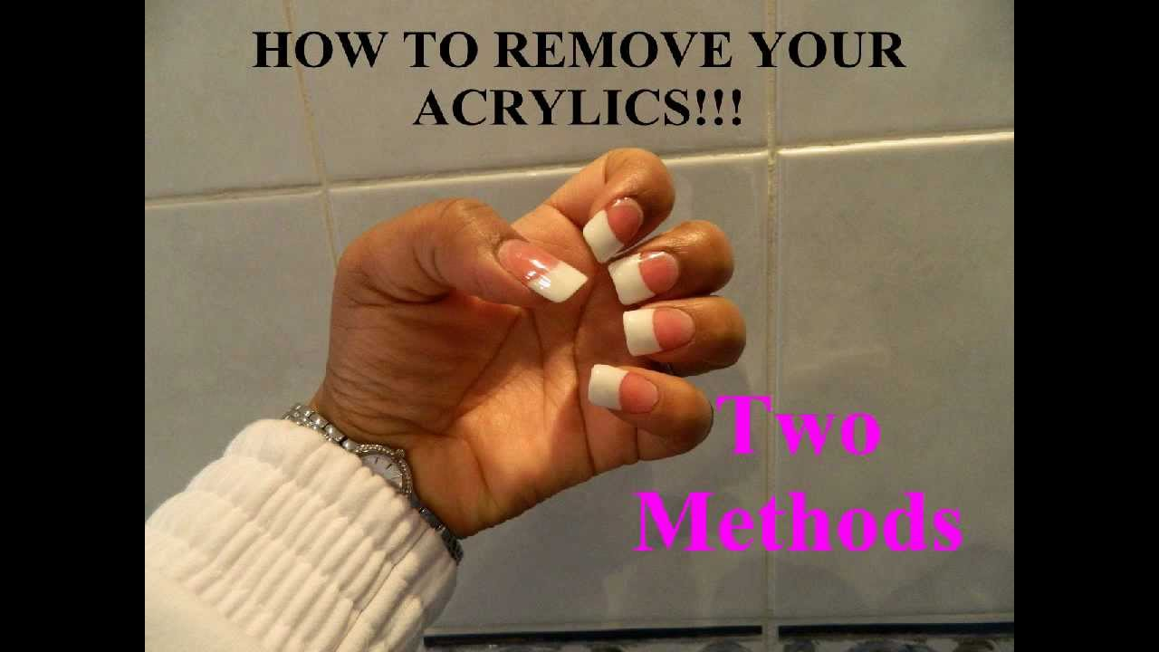 How to Remove Acrylic Nails - TWO METHODS!!! + Natural Nail Care ...