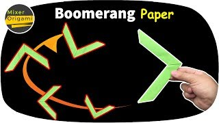 How to make a paper airplane boomerang easy | Mixer origami