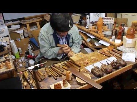 Wood artist in Takayama - Japan