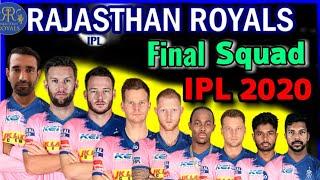 Vivo IPL 2020 Rajasthan Royals Full Squad | Rajasthan Royals Final Players list 2020 | IPL 2020 RR