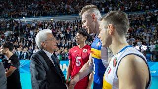 Mattarella alla partita inaugurale del mondiale di pallavolo maschile Italia – Giappone