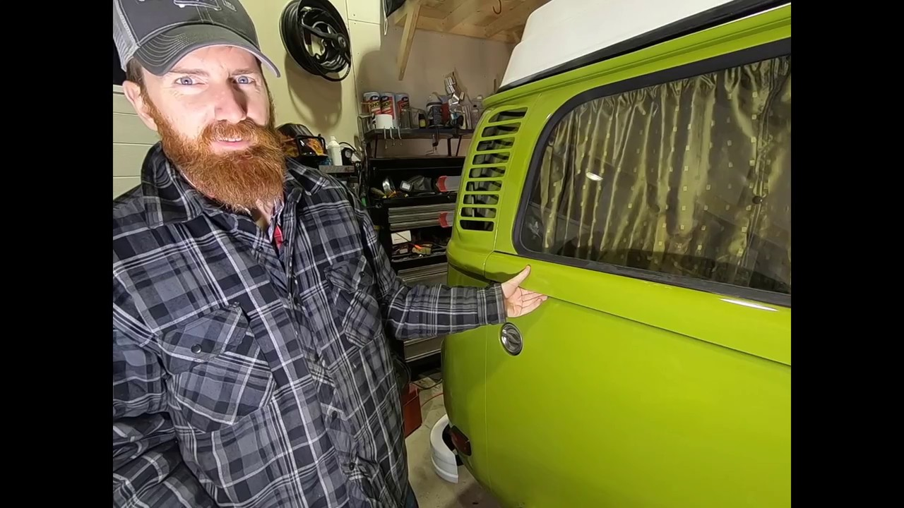 VW Bay Window Camper Van T2 W Sliding Door Right Side lower Section Body Repair