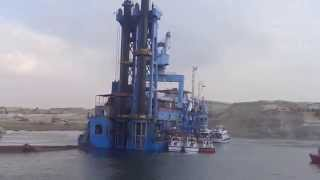 New Suez Canal: Video exclusive agent Krakh walking on the Suez Canal Water