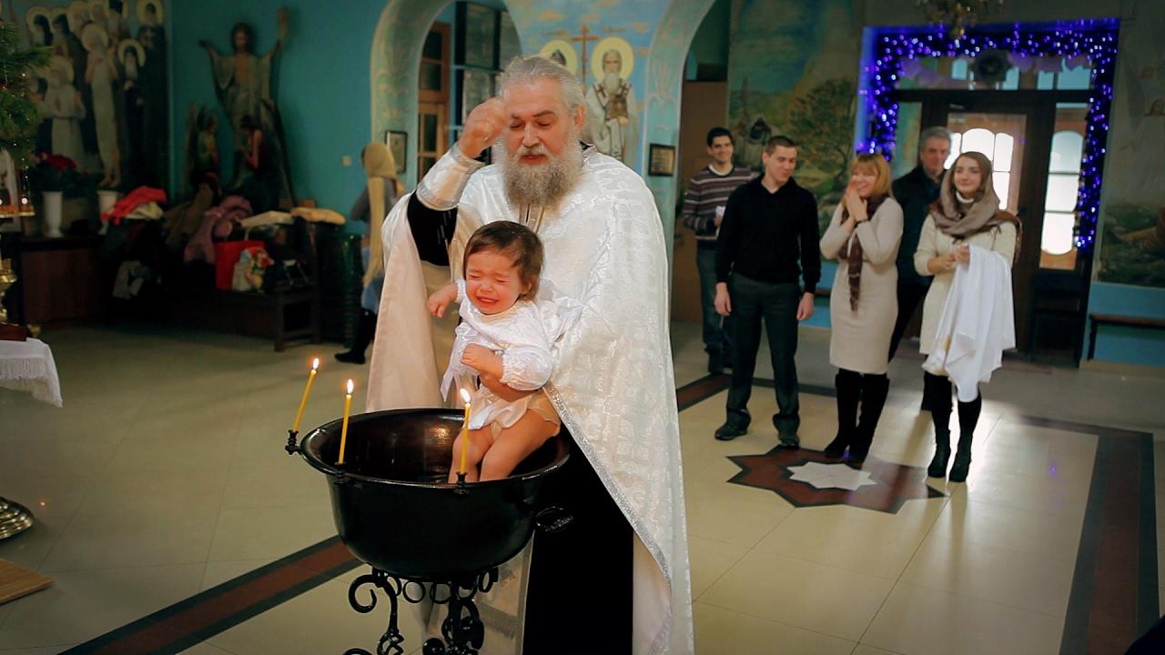 Видео и фото на крещение ребенка