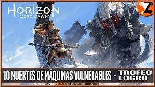 Horizon Zero Dawn - Trofeo 10 muertes de máquinas vulnerables (10 Vulnerable machine kills)