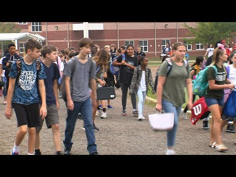 National Walk to School Day at Hungary Creek Middle School