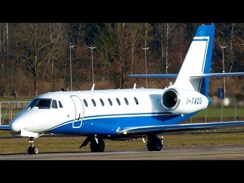 Cessna 680 Citation Sovereign I-TAOS Take-Off at Bern