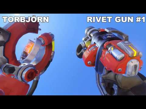 BETA Overwatch All Weapons In Slow Motion [2K 60FPS MAX DETAILS]