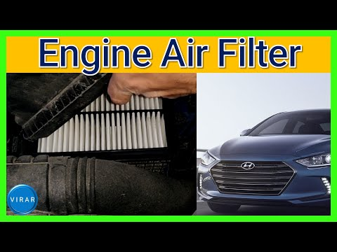 Engine Air Filter Replacement [EASY] – Hyundai Elantra – 2017 / 2018 – How to / DIY