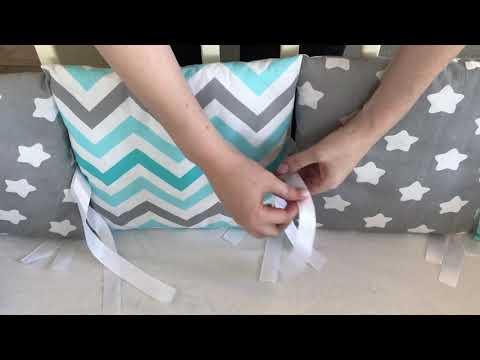 Как правильно одевать бортики на детскую кроватку