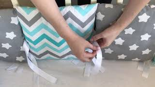 Как правильно завязать бортики в кроватку |Nyashlandia|