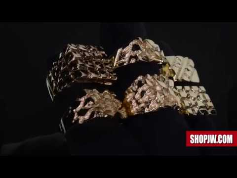 dfdb02300 Mens Classic Solid 10k Gold Nugget Rings || Shopjw - YouTube
