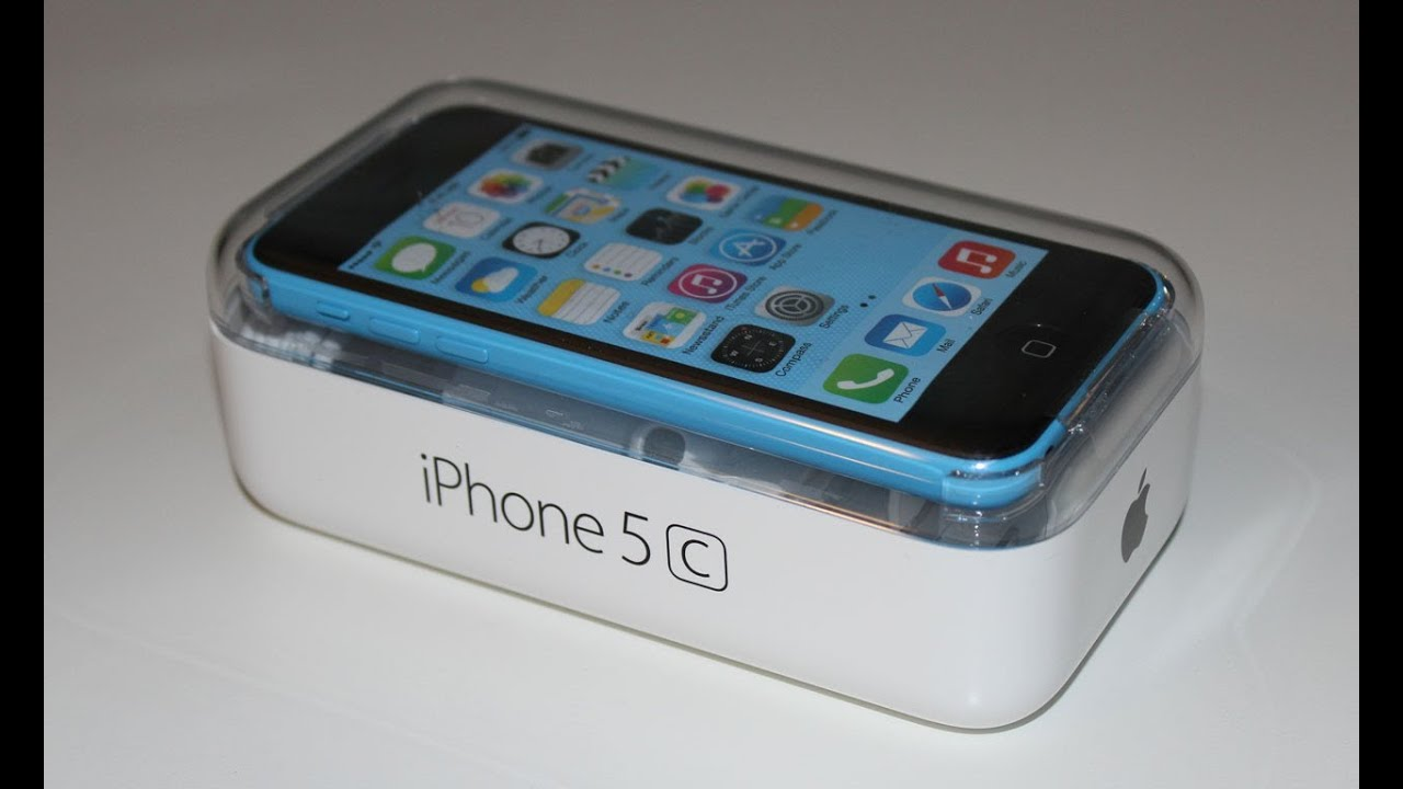 Apple iPhone 5c Unboxing (blue) - YouTube