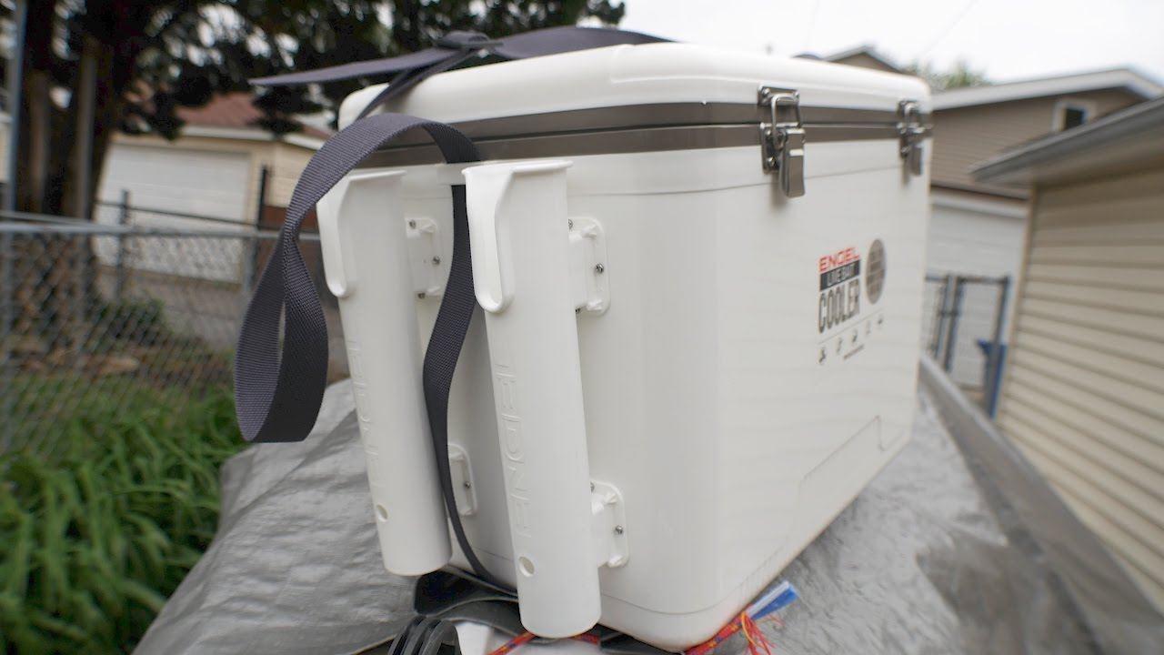 How to install rod holders on the Engel Live Bait Cooler ...