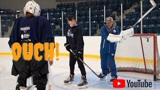 NHL GOALIE COACH: REGRETS LOSING IT! AND V9 VAUGHN SET UP UNBOXING. BONUS PLAYBOY CENTERFOLD