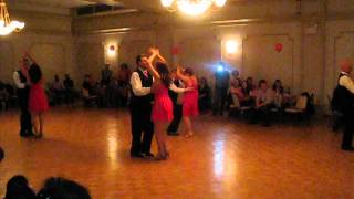 Beginner Student Salsa Performance at Salsa in the Suburbs Sweetheart Dance [Feb. 2014]