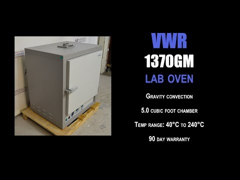 VWR 1370 GM gravity convection oven (3734M OVEN)