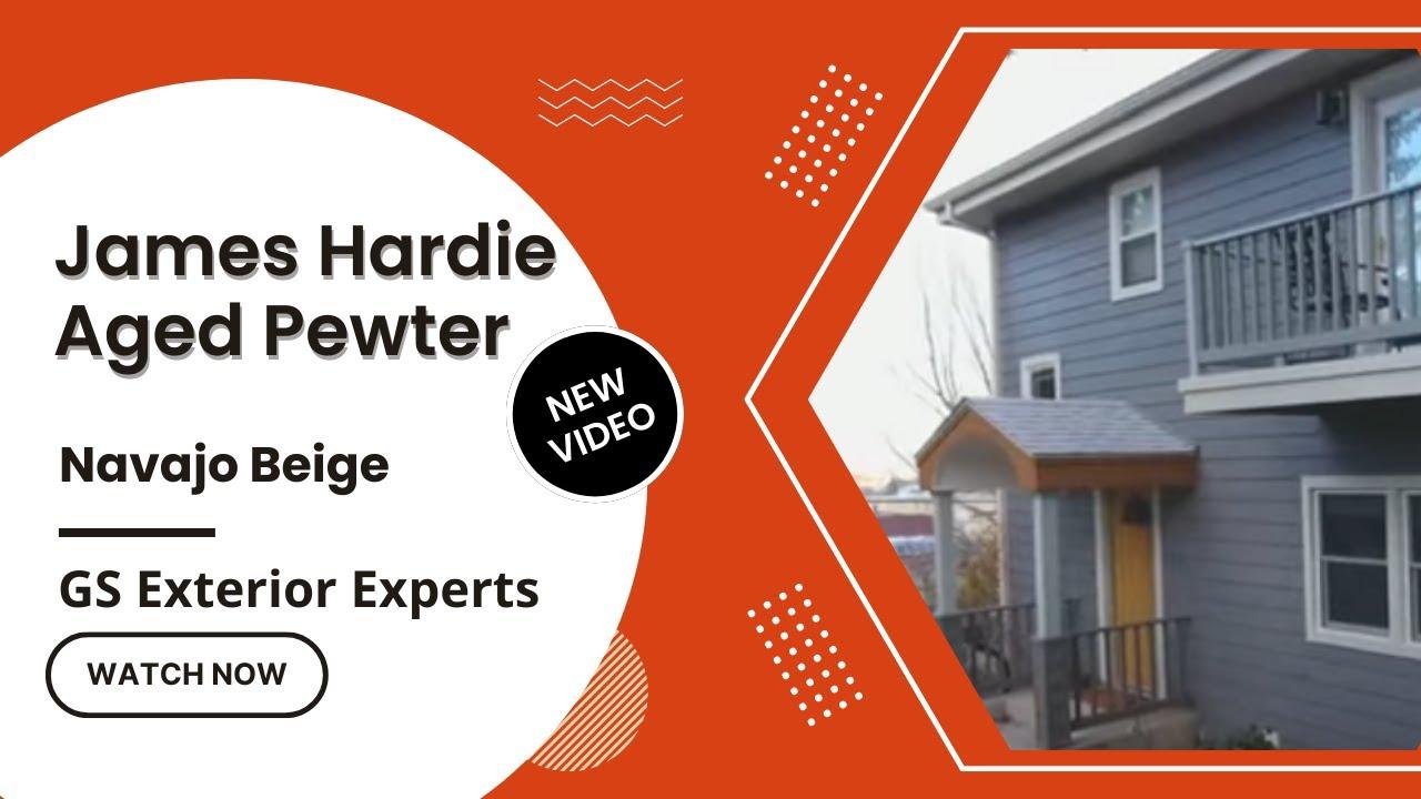 James Hardie Aged Pewter Navajo Beige Cement Fiber