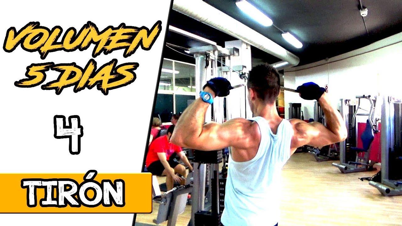 Rutina de gimnasio para ganar masa muscular 4 dias