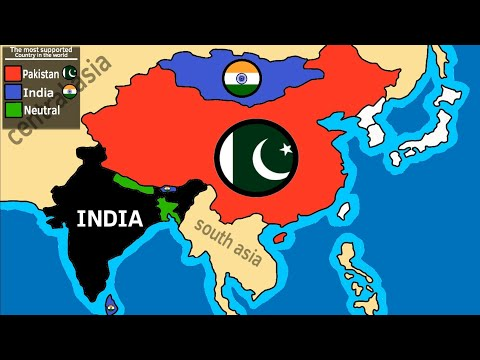 India vs Pakistan ? the most liked country in the world
