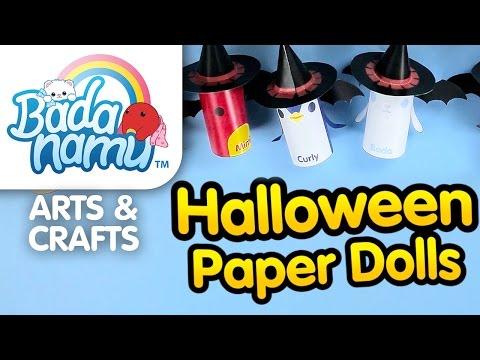 Badanamu Arts & Crafts EP7: Halloween Paper Dolls l Nursery Rhymes & Kids Songs