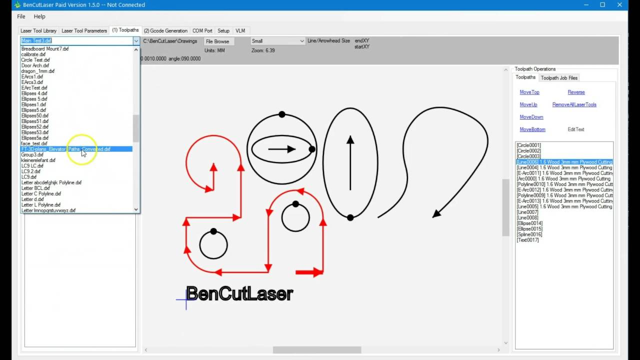 hight resolution of bcl virtual laser machine part 2