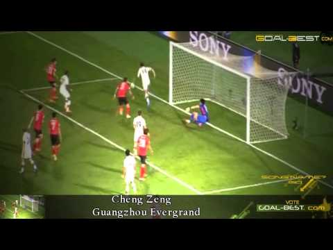 Big Save ! Goal Keeper Cheng Zeng Guangzhou Evergrand 2014 China