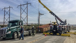 Trailer Falls Off Truck | Full Of Carrots | Rotator To The Rescue
