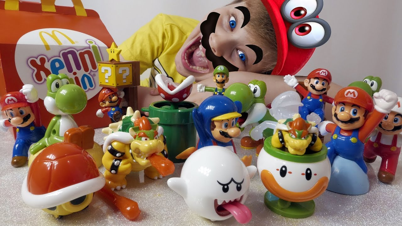 Happy Meal New Super Mario Toys In Mcdonald S Youtube