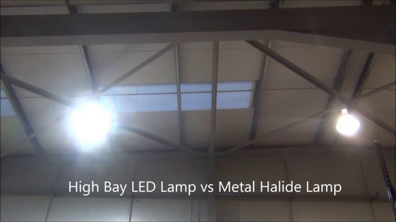 High bay led lamp vs metal halide lamp youtube arubaitofo Images