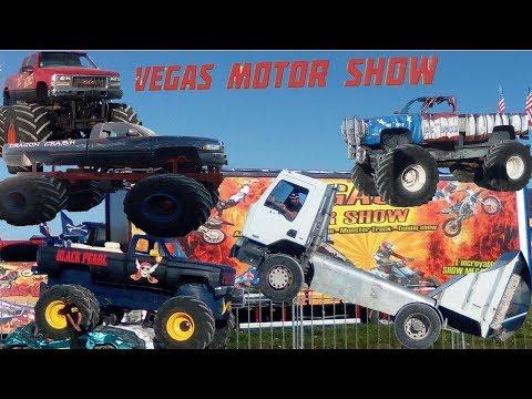 Spectacle Cascadeur Vegas Motor Show | Monteurs Truck - Cascade de voiture sur 2 roue ...